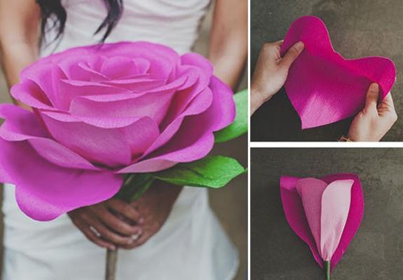 Большие бумажные цветы своими руками из бумаги самые