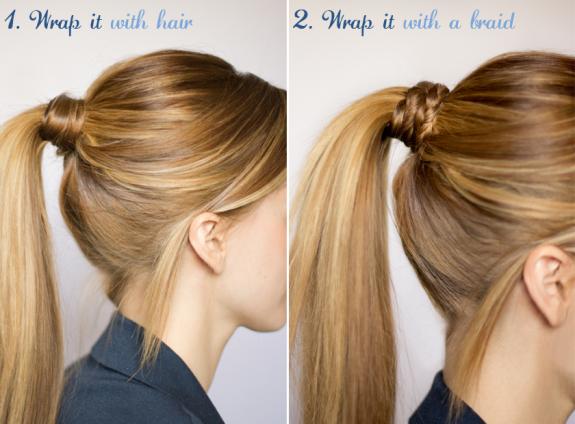 Как можно сделать хвостики из волос