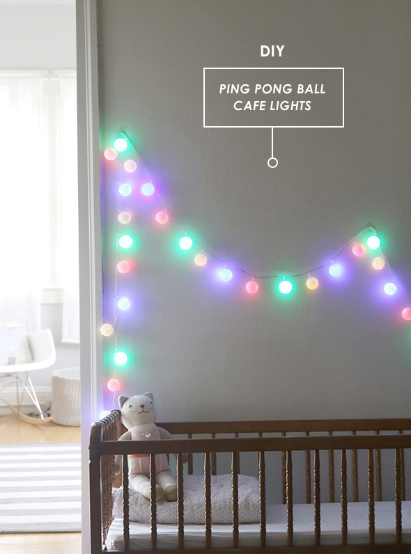 DIY ping pong ball cafe lights