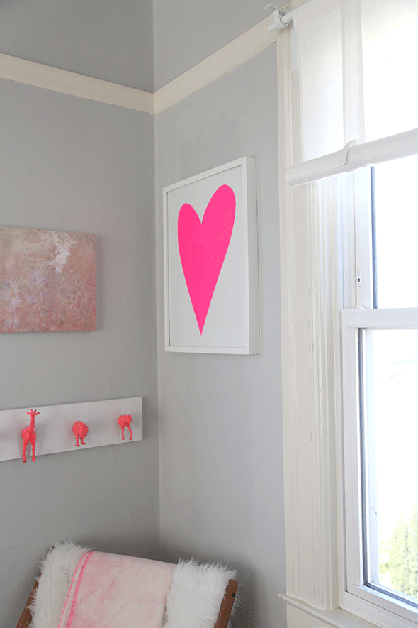 DIY The Easiest Lopsided Heart Artwork