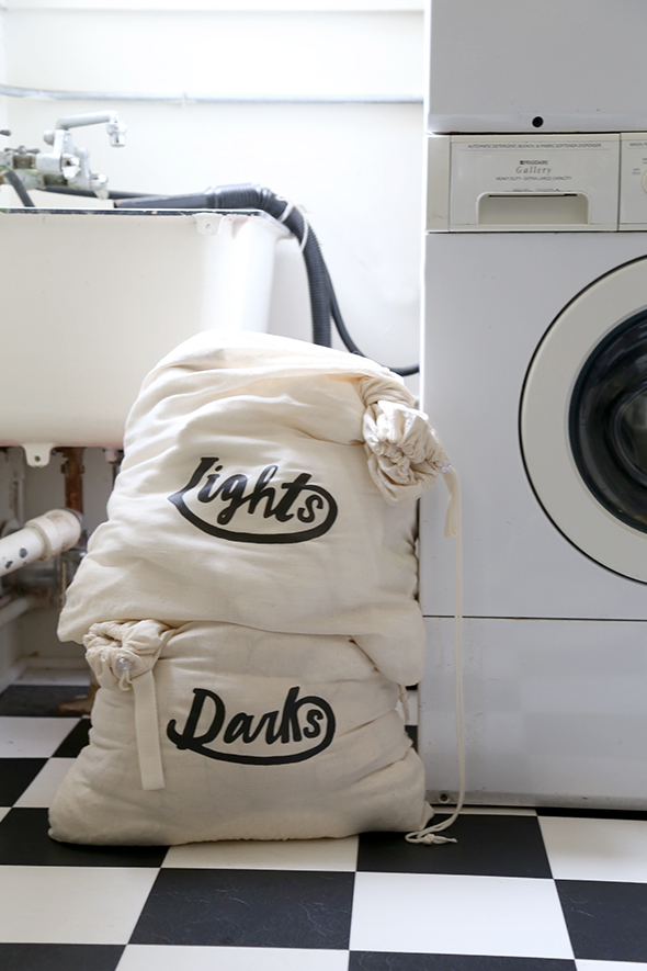 diy printable laundry bag design