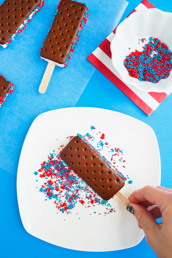 4th of july popsicles