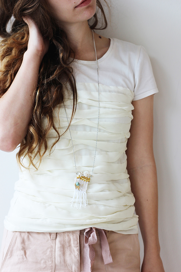 make your own woven necklace
