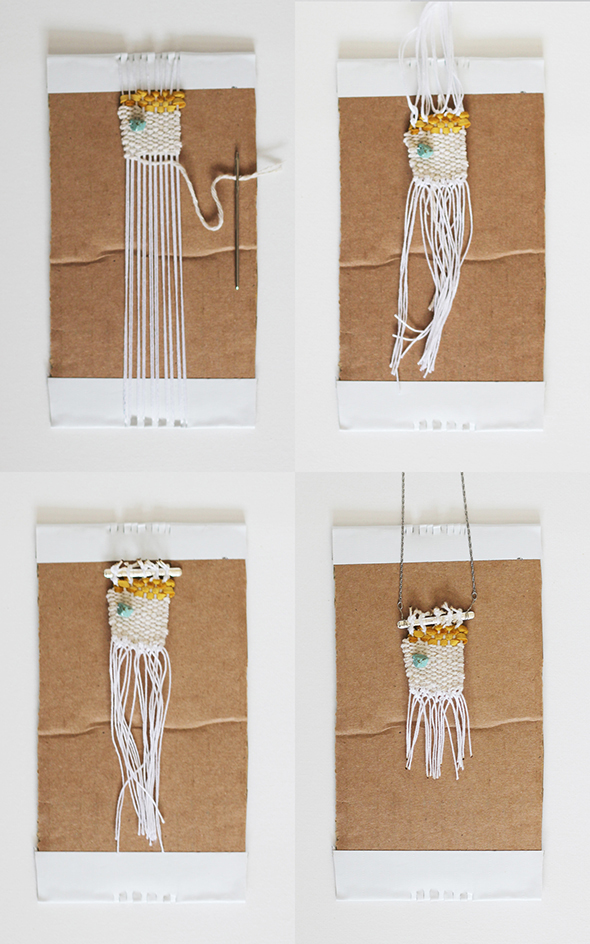 woven necklace Instructions 2