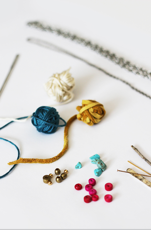 woven necklace materials