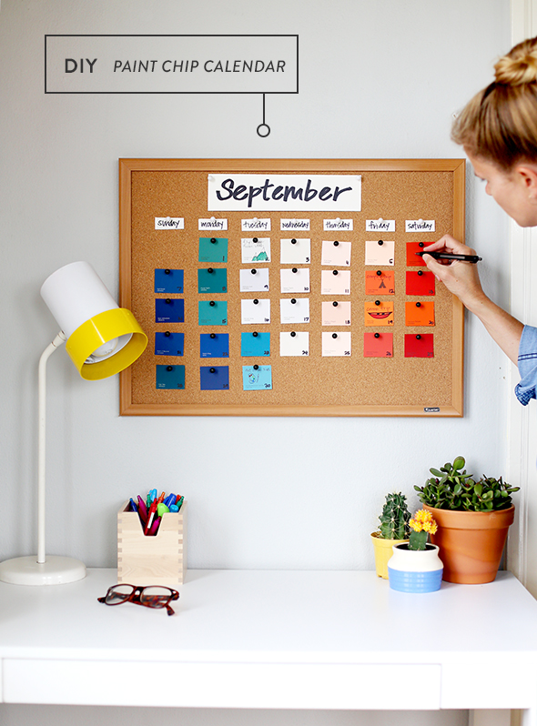 Diy Calendar For School : Diy back to school paint chip calendar say yes