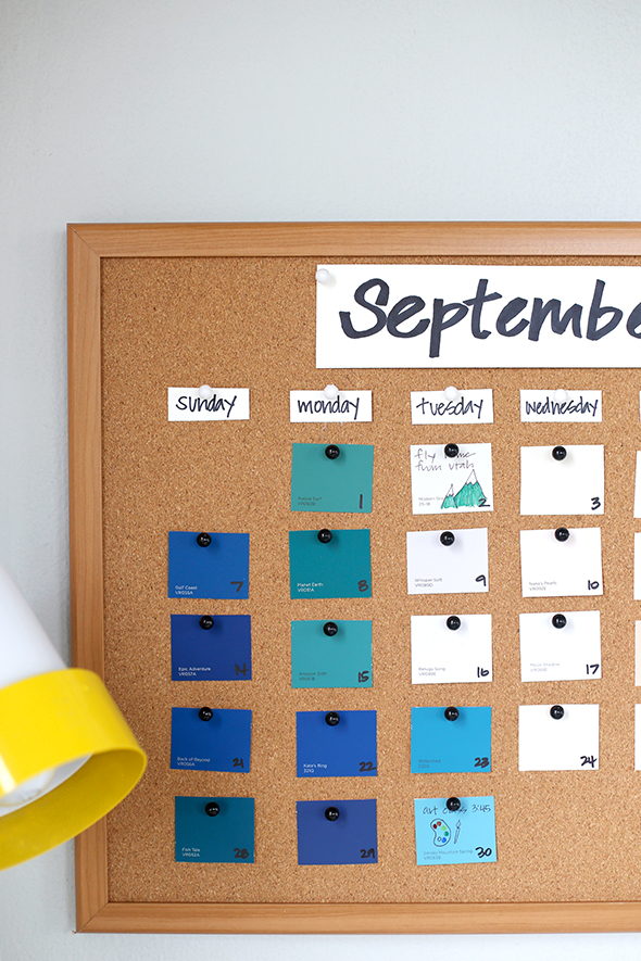 Diy Back To School Paint Chip Calendar Say Yes
