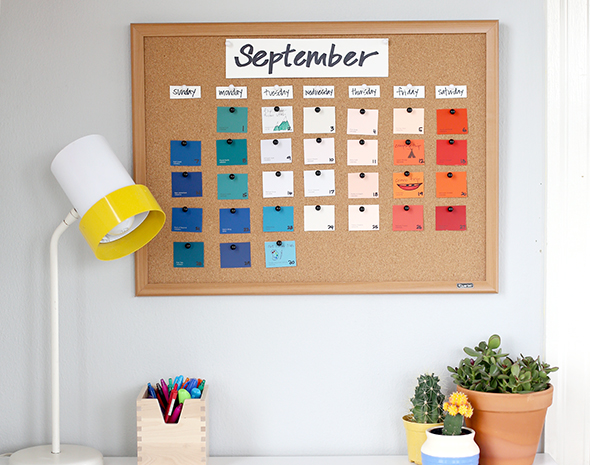 Diy Calendar Paint Chips : Diy back to school paint chip calendar say yes