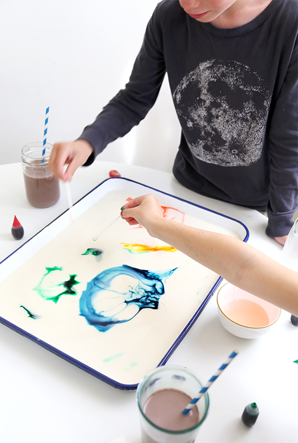 how to make milk art