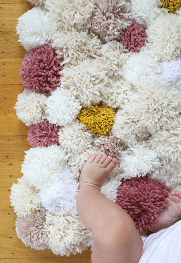 Diy Easy Pom Rug Say Yes