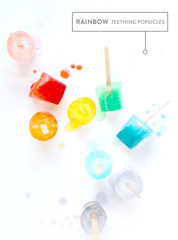 Rainbow Teething Popsicles Say Yes