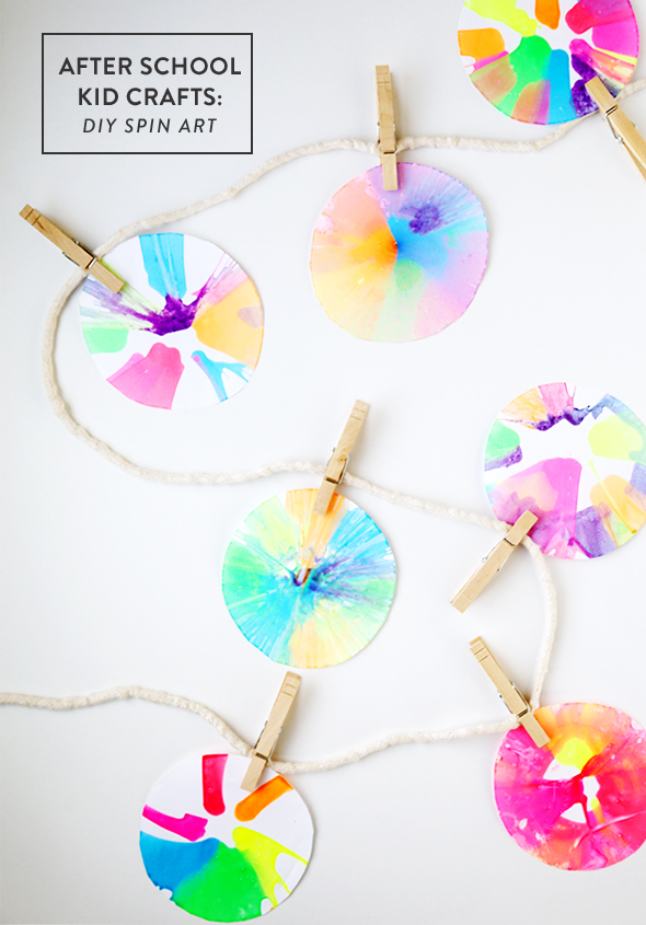 After School Kid Crafts Diy Spin Art Giveaway Say Yes