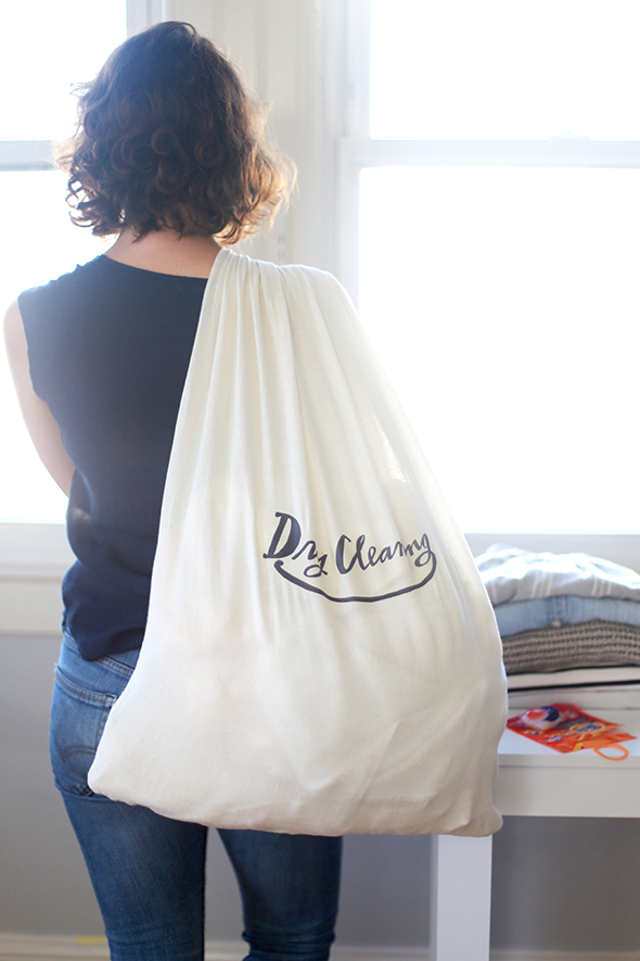 Dry Cleaning Printable Laundry Bag