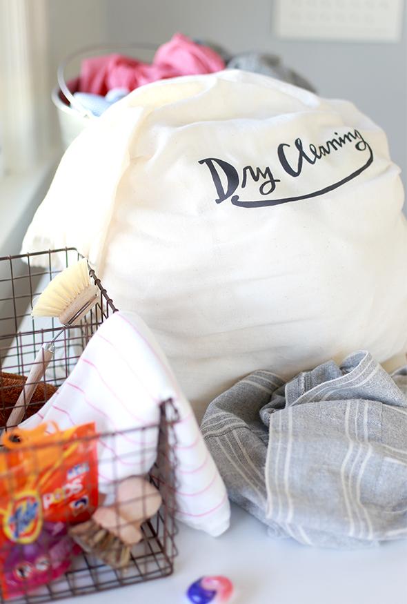 printable dry cleaning bag