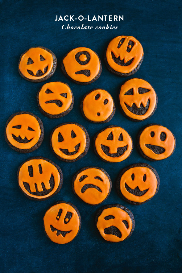 Jack O Lantern Chocolate Cookies Say Yes