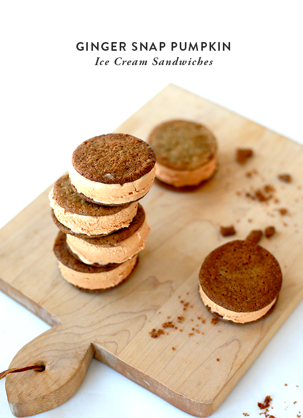 Ginger Snap Pumpkin Ice Cream Sandwich Recipe - Say YesSay Yes