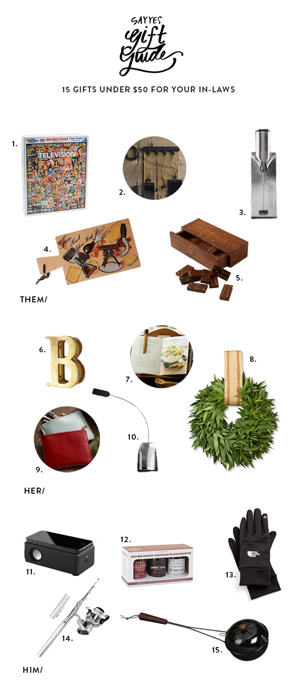 IN-LAWS GIFT GUIDE
