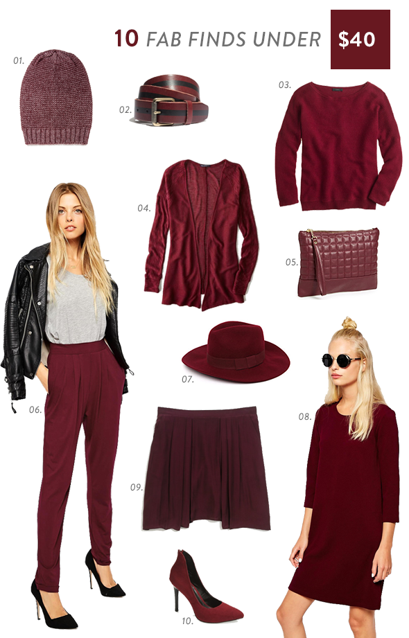 Fashion Color of Marsala the Year