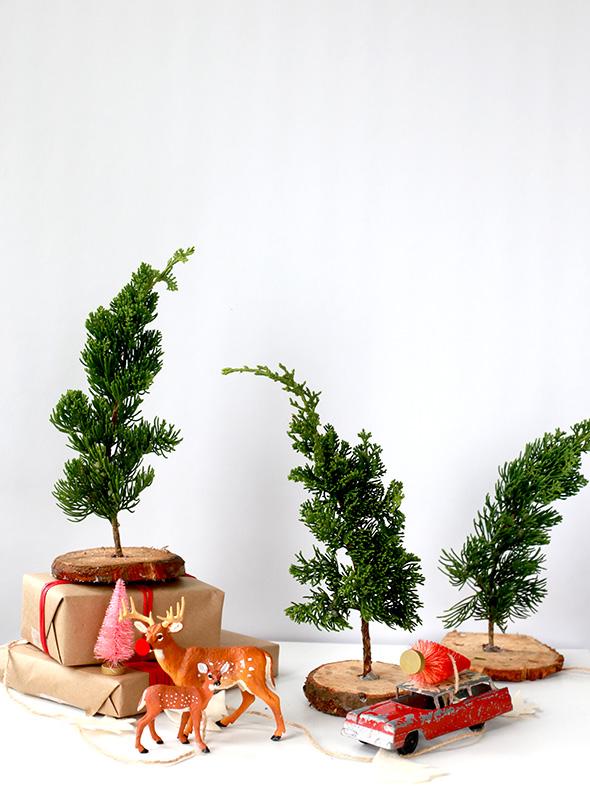 DIY mini trees