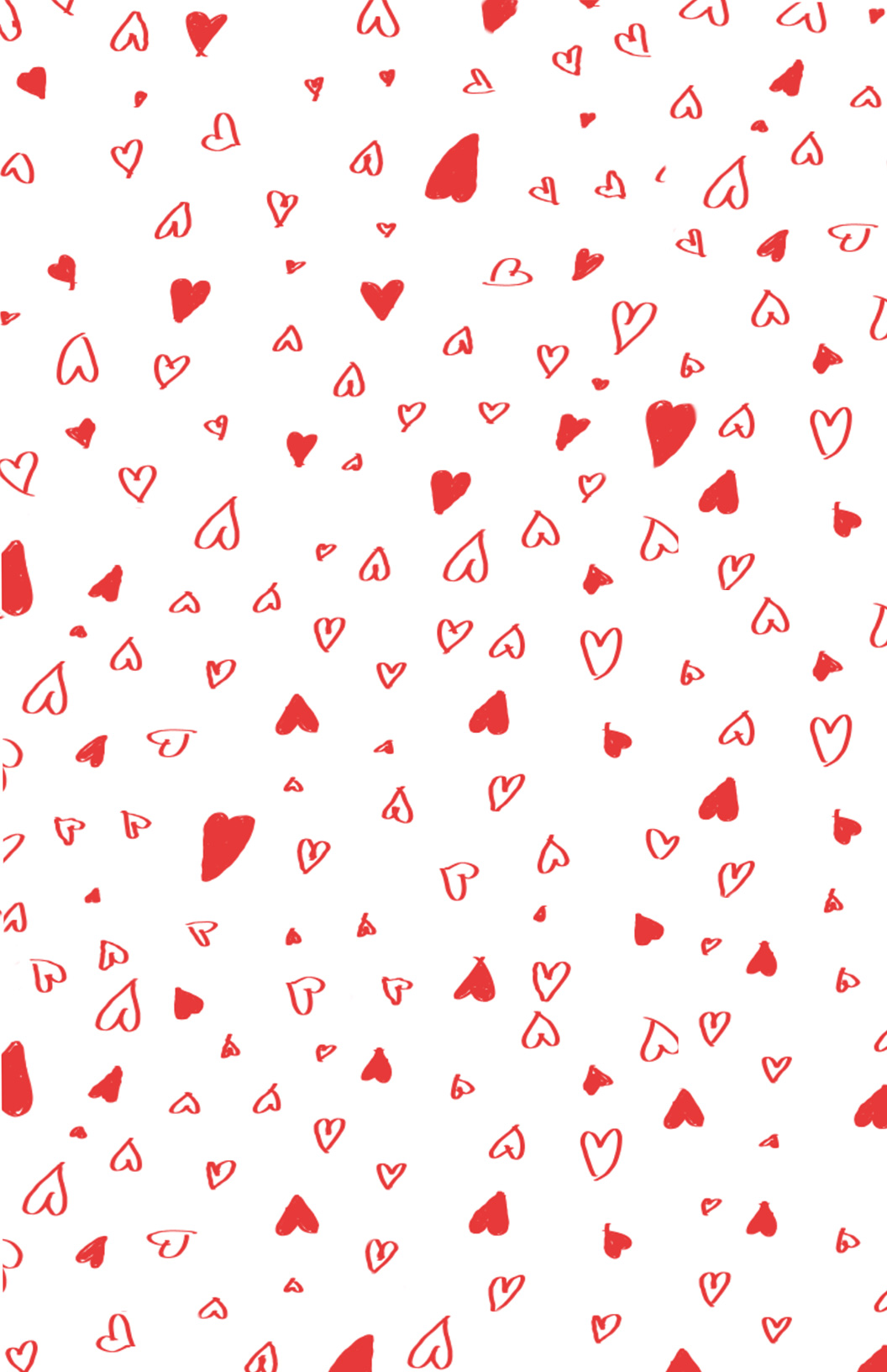 Printable Hand Drawn Valentine's Day Wrapping Paper - Say YesSay Yes