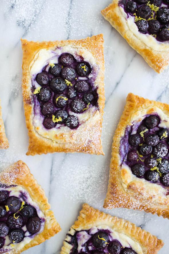 20 minute blueberry lemon cream cheese danish - Say Yes