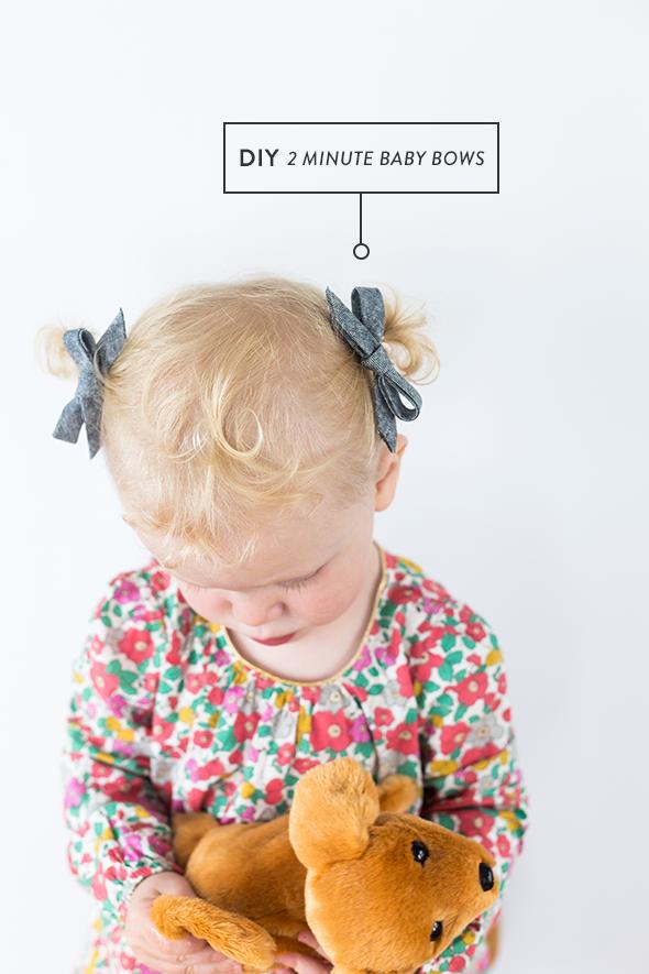 DIY baby bows