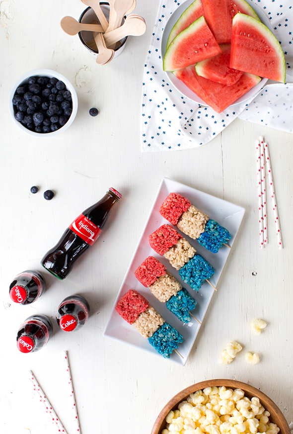 fourth of july rice krispies