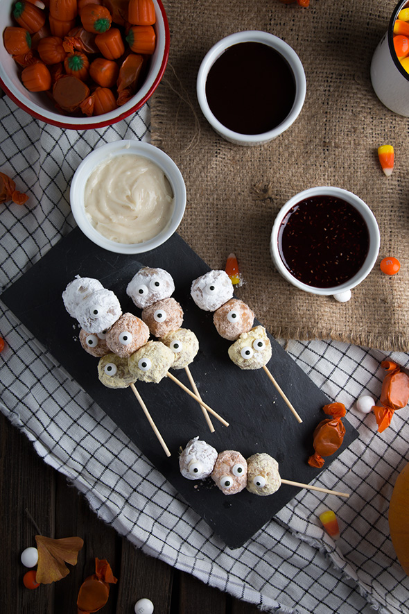 Candy Corn Donut Hole Monsters Say Yes
