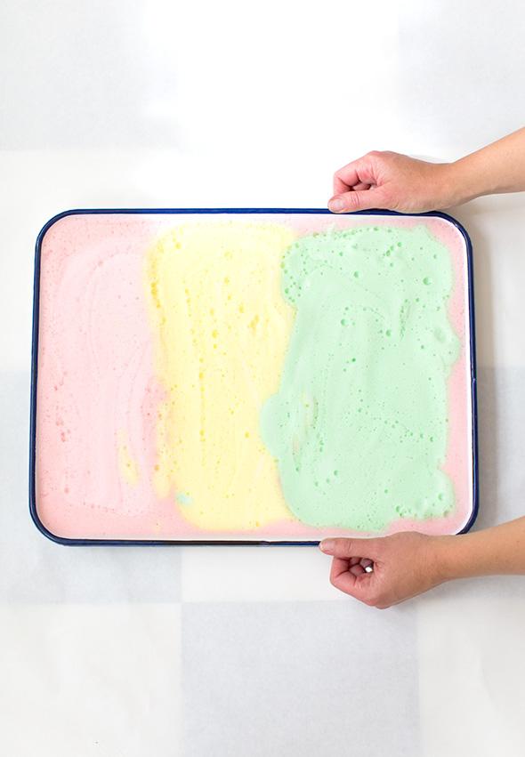 rainbow foam