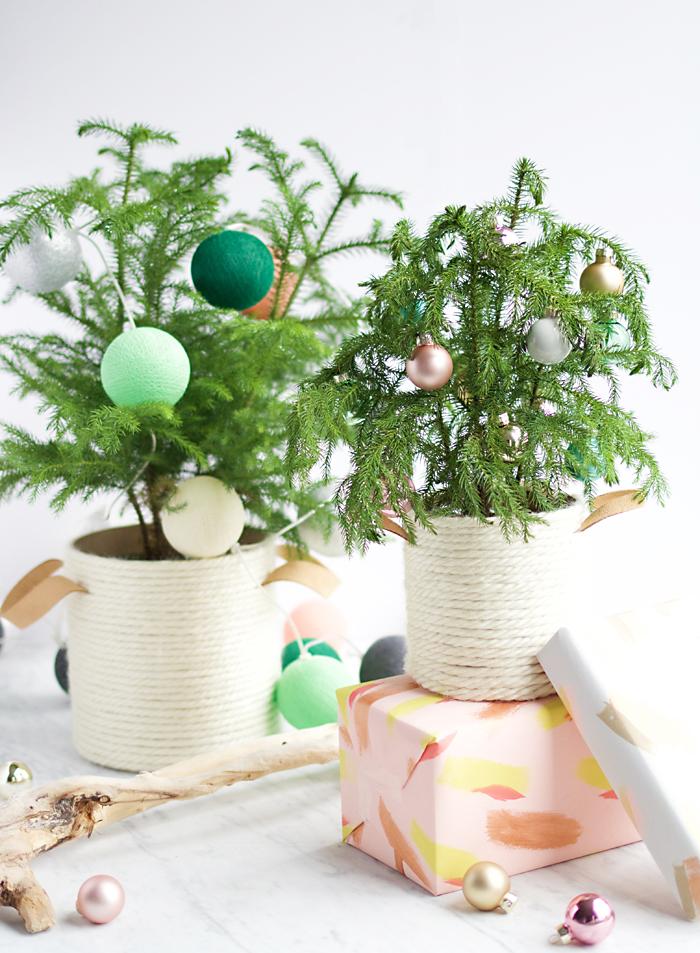 DIY Christmas tree basket - Say Yes