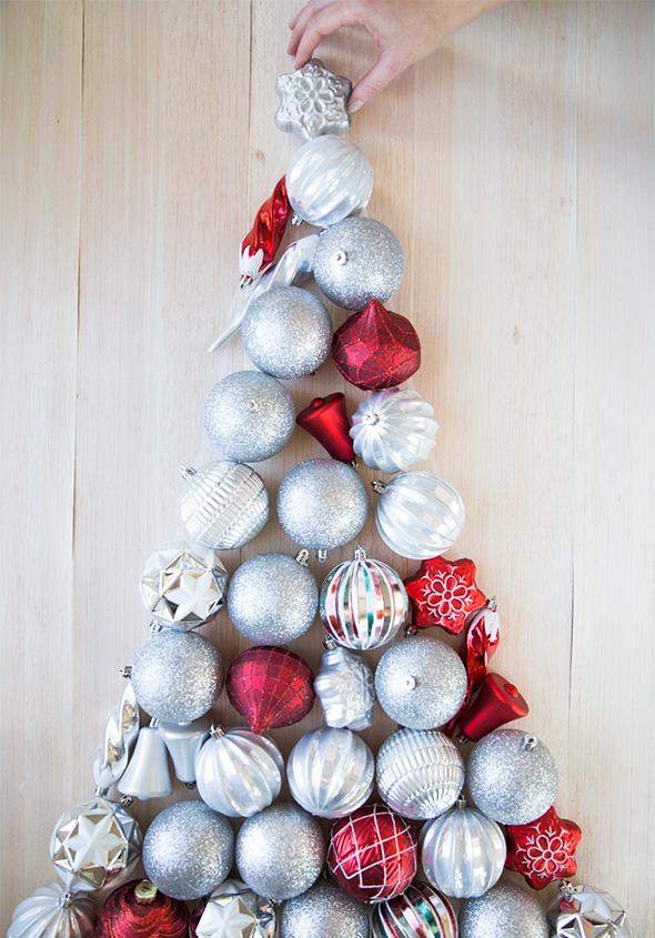 diy ornament tree say yes