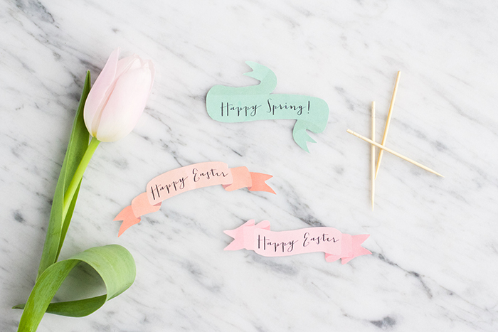 Mini DIY Easter Bouquets
