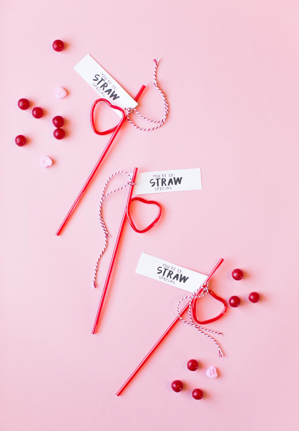 straw valentines