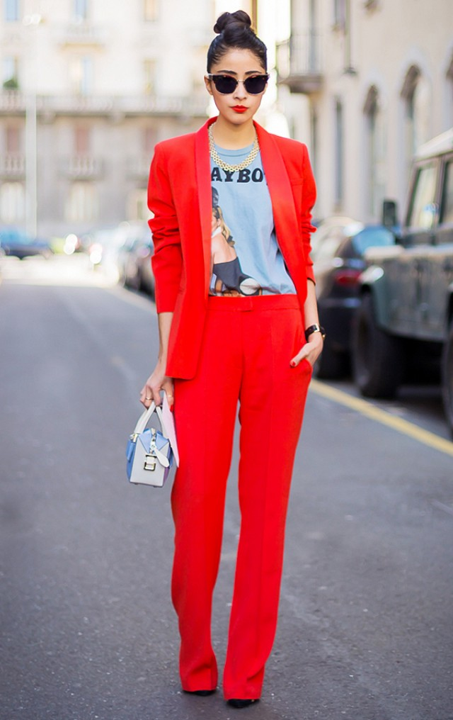 8 Red Hot Street Style Looks for Valentine's Day