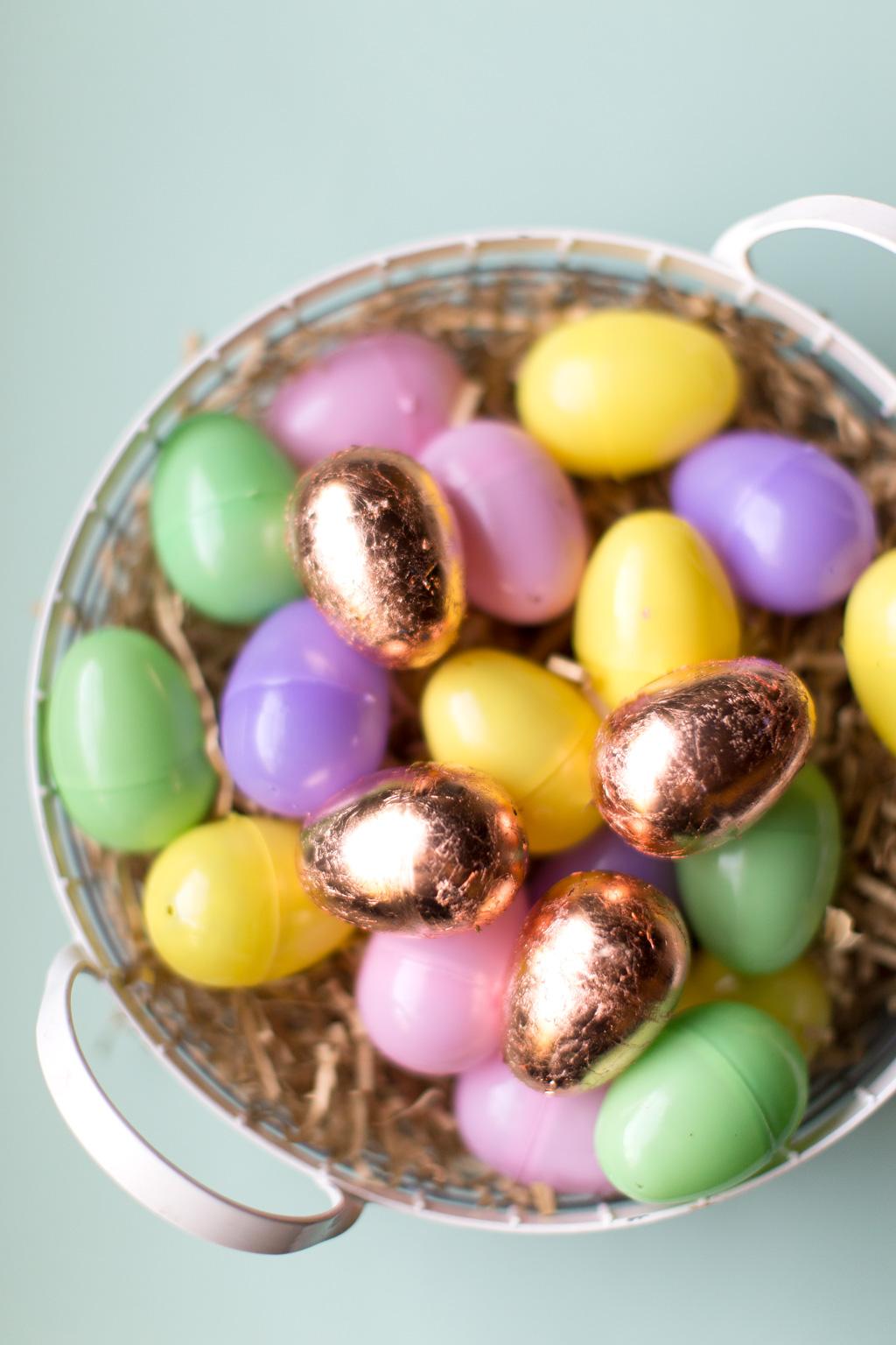 Diy Golden Easter Eggs Say Yes