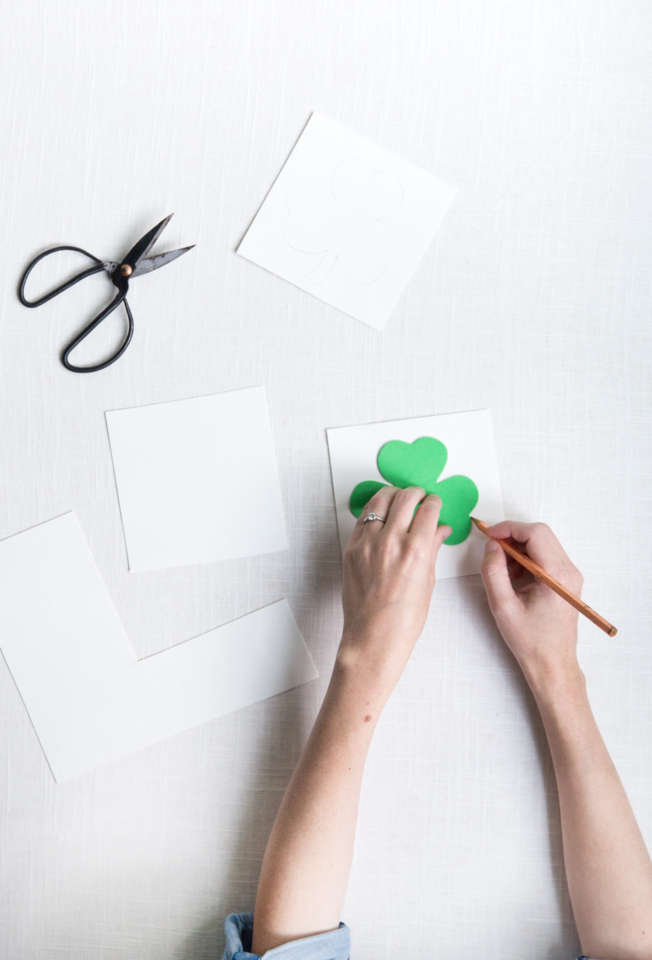 st patricks day sewing cards
