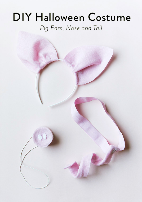 Diy halloween costume pig ears nose and tail say yes diy halloween costume pig ears nose and tail pronofoot35fo Images