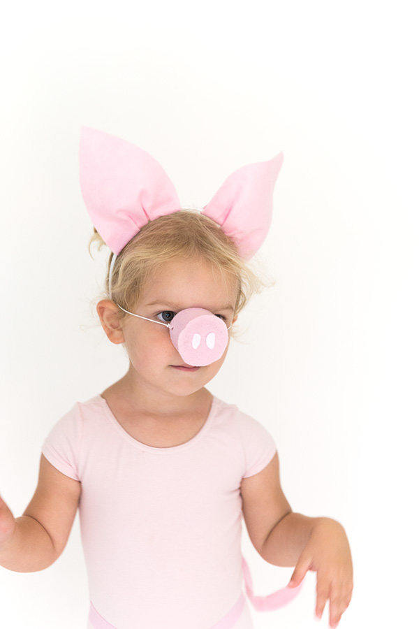 Diy halloween costume pig ears nose and tail say yes pig halloween costume pronofoot35fo Images
