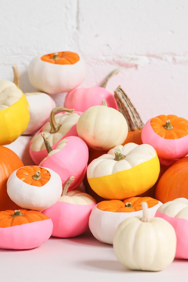 balloon dipped pumpkins