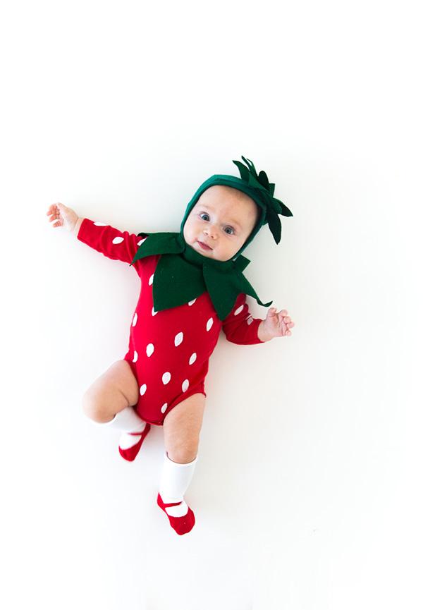 strawberry baby halloween costume