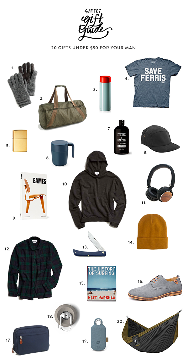 20 Gifts Under 50 For Your Man