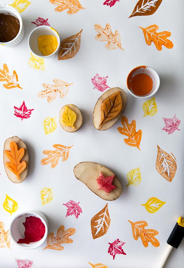 leaf potato stamping