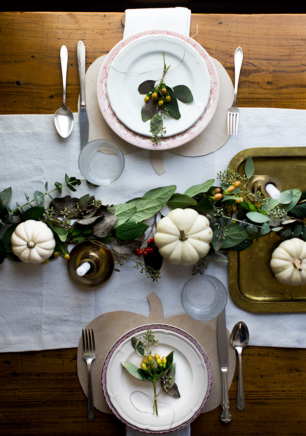DIY pumpkin placemats