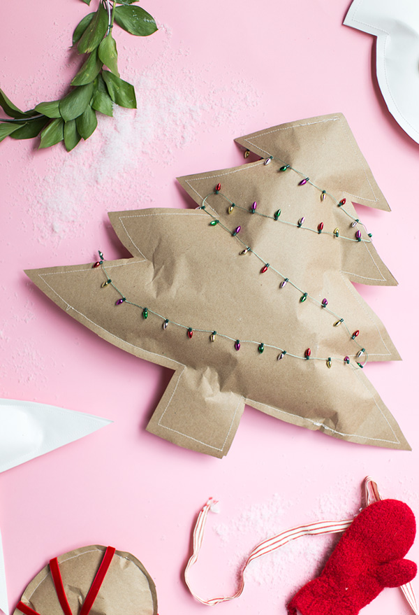 sewn paper packages