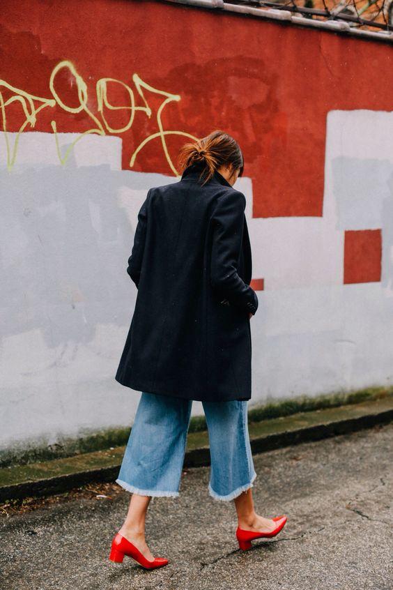 block heel shoes street style