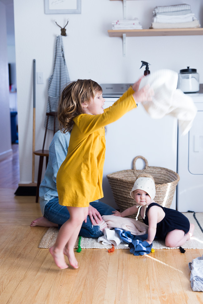 laundry with toddlers