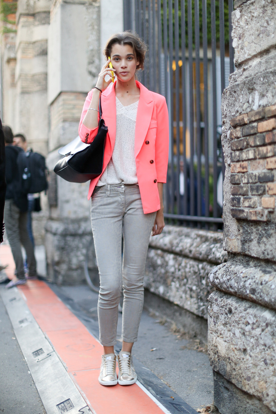 blush pink and grey