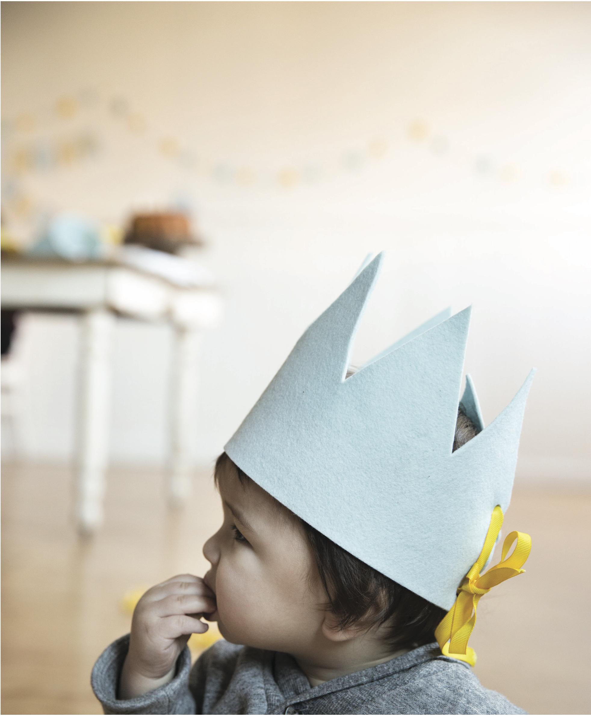 Diy Felt Birthday Crowns Say Yes