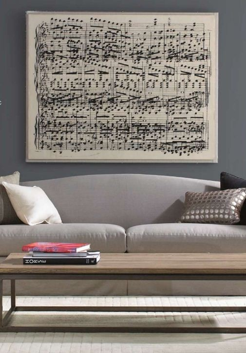 Oversized Book Page Sheet Music Art Say Yes